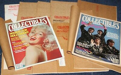 12 Issues Vintage Collectibles Magazines The Beatles & Marlyn Monroe Covers