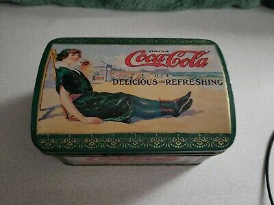 Vintage Rounded Top Coca-Cola Tin 1995 Free Shipping