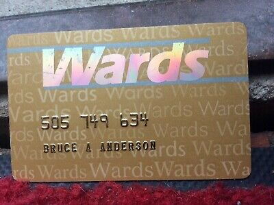 Vintage Wards department store credit Charge card