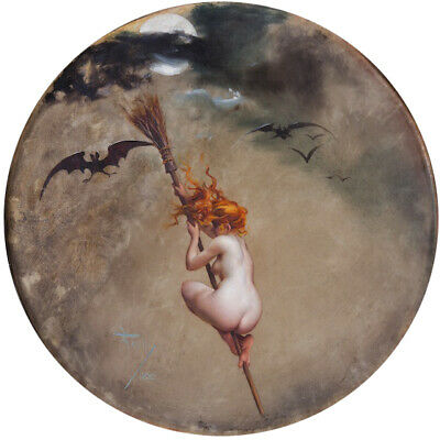 The Witch Luis Ricardo Falero Hand Painted Classical Canvas Nude Bat Painting