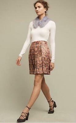 92d751ac3999 Anthropologie NWT Size Large Maeve Rosa Skirt Red Metallic Floral New with  Tag
