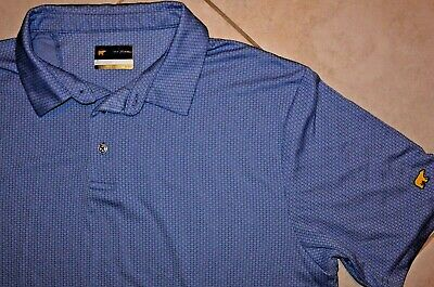 71dd21de4 JACK NICKLAUS GOLDEN BEAR STAYDRI S S POLO GOLF SHIRT Blue XL Checked MINT