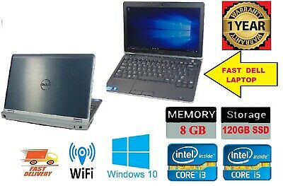 Cheap Fast Dell Latitude Intel Core i5 8GB RAM 240GB SSD Windows 10 HDMI Laptop