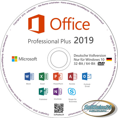 ✅ Microsoft Ms Office 2019 Professional Plus Installations Cd Dvd Büro Paket 👍