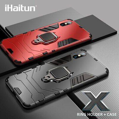 iHaitun Luxury Ring Holder Case For iPhone XS MAX XR X Cases Armor Military