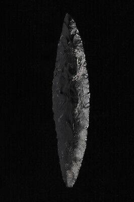 Cascade Bi-Pointed Leaf Knife Blade, Lake County, Oregon, Stermer COA, Paleo