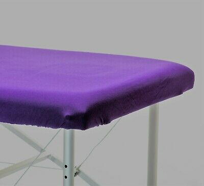 Massage Table 100% Cotton Stretch Sheets, Burgundy, Cotton Cover, Fitted Sheet