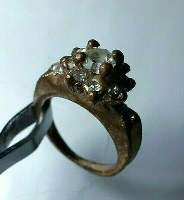 Viking Extremely Rare Medieval Massive Bronze Ring Viking Superb Museum Quality Ancient Clear And Distinctive