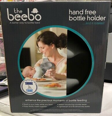 The Beebo - Free Hand Baby Bottle Holder (Charcoal - New and Improved). NEW
