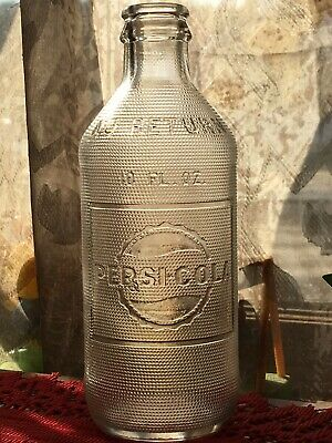 1940'S VINTAGE NO Deposit No Refill Pepsi Cola Bottle Embossed 6