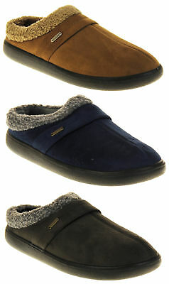 Mens Coolers Synthetic Fur Mule Indoor Comfy Slippers Size 7 8 9 10 11