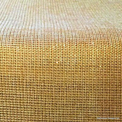 Antique Radio Grille/Speaker cloth, Gold Lurex/Met.Gold, Free Shipping