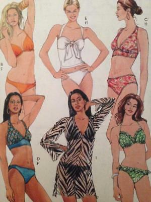 b59a2b8d25 McCalls Sewing Pattern 5400 Misses Ladies Two Piece Bathing Suit Size 12-18  UC