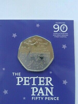 2019 Royal Mint British Isles Peter Pan 50p Coin BUNC  UK Hunt