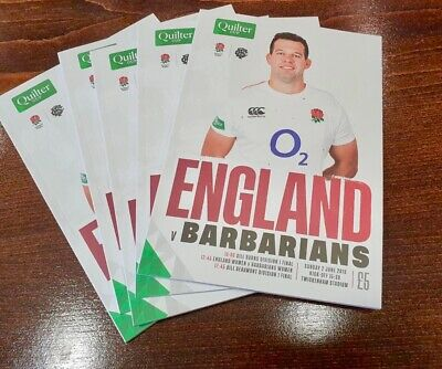 2019 Quilter Cup: England XV v Barbarians - Match Programme