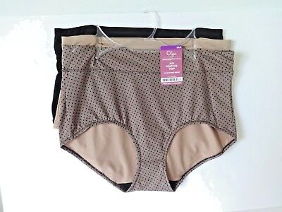 80ef4080da82 Warners by Olga no muffin top brief panties plus size 9 2XL 3 pair RS4381W