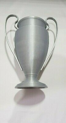 Football trophy Silver and Black Type 4 20cm tall or 25cm with base