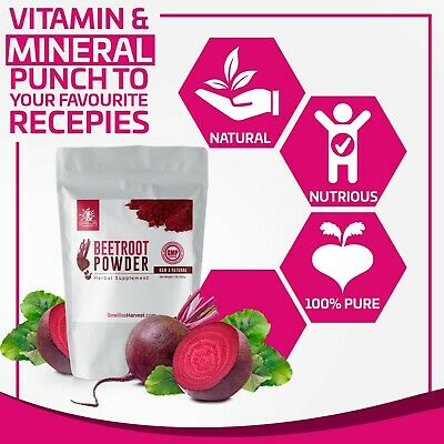 All Natural Red Beet Root Powder, 1lb Supplement, Raw Beet Juice Weight Loss Aid
