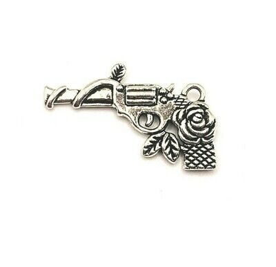 4 or 50 BULK pcs Silver Pirate Flag Charms Double Sided- US Seller AS870 20