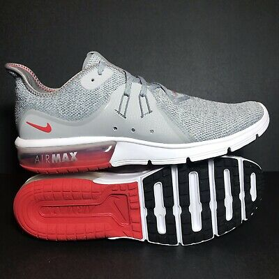 1530865ebe Size 11 Mens Nike Air Max Sequent 3 Grey Red White Running Shoes 921694-060