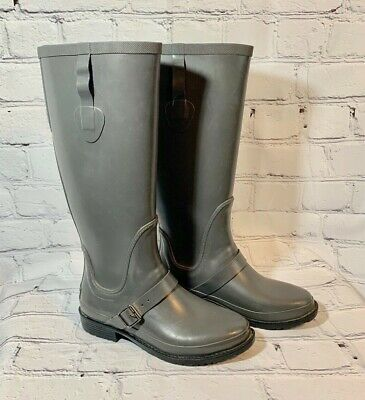 ebec25ed73d WOMENS LL BEAN Wellies Black Rubber Waterproof Ankle Rain Boots Sz 7 ...