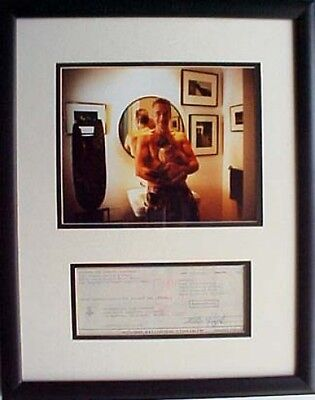 Ray Manzarek  Signed Cancelled Check  And Photo Framed