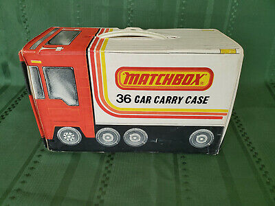 Vintage 1978 Matchbox 36 Car Carry Case + 32 diecast cars from the 1970s used