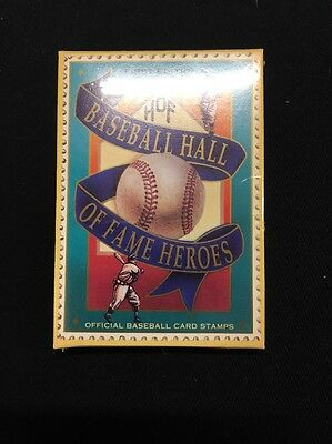 First Addition Baseball Hall Of Fame Heroes Official Baseball Card Stamps (rj48)