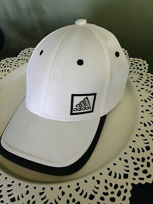 822832dd Adidas Climalite Flex Fit Stretchable Baseball Hat Cap Moisture Mngt White L /XL