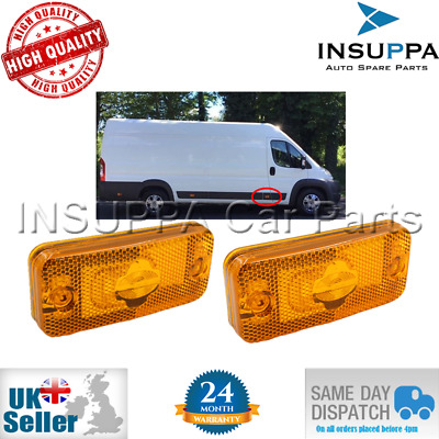 2X Side Marker Light Fits Citroen Relay Fiat Ducato Peugeot Boxer Iveco Daily