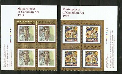 Canada SC # 1310-1516-1545 Masterpieces Of canadian Art . Block Of 4. MNH