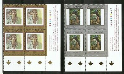 Canada SC # 1310-1516-1545 Masterpieces Of canadian Art . Block Of 4. MNH. 3