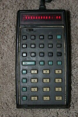 VINTAGE HP-35 SCIENTIFIC Calculator w/ Leather Case, Charger