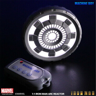 1:1 Iron Man Chest Lamp Arc Reactor Remote Control LED Sound Cosplay Props Gift