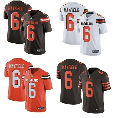 new concept 94f22 69ab7 NEW MEN'S CLEVELAND Browns #6 Baker Mayfield Brown/Orange ...