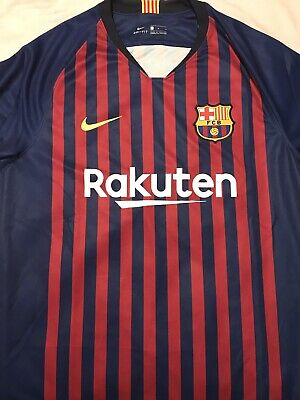 51a2be56916 BARCELONA FC HOME Stadium Soccr Jersey KID's 2018/19 Blue/Red 894458 ...