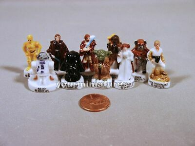 French Feves Miniature Porcelain Star Wars Original Characters Retired