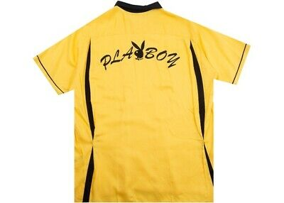 459d162e3b1 SUPREME PLAYBOY RUGBY Polo Long Sleeve Shirt M Yellow/ White FW17 ...
