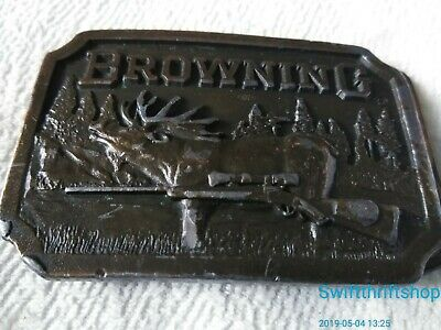 VINTAGE 1970s **BROWNING SPORTING ARMS** GUN FIREARM HUNTING BELT BUCKLE