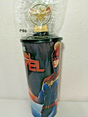 Captain Marvel Avengers Cup Movie Theater Promo Topper Straw