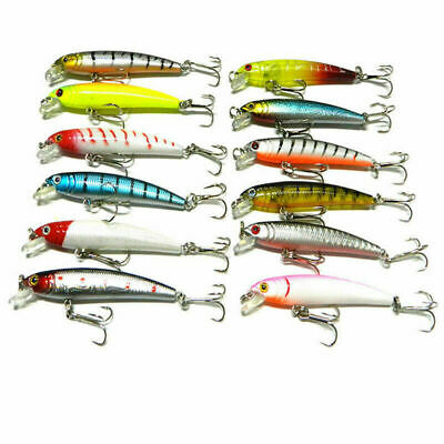 1pcs Plastic Minnow Fishing Lures Bass Crankbait Tackle 7.52cm Gift High qua