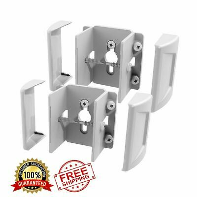 FREEDOM PRE-ASSEMBLED 2-PACK White Metal Aluminum Fence Brackets