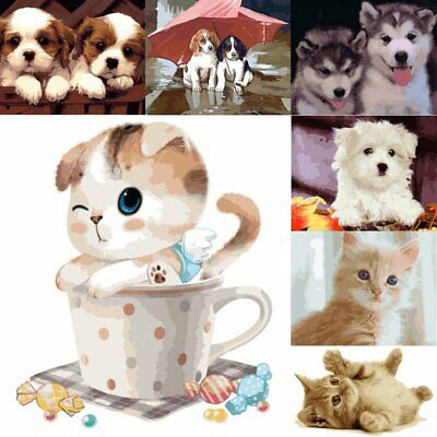 Digital Scenery Animal Oil Painting By Number DIY Kit Canvas Paint Home Decor AU