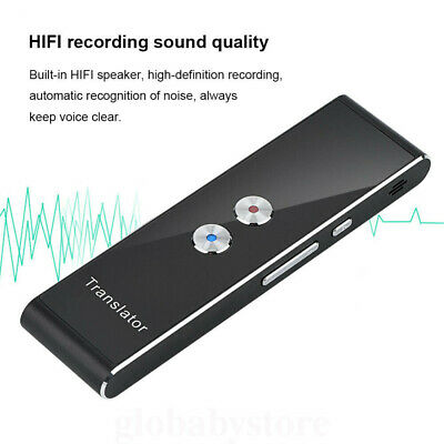 Portable Wireless Smart 2 Way Real Time Multi-Language Voice Translator lm1 T8
