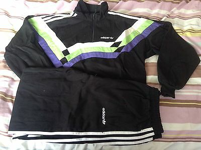 Bnwot Adult Mens Genuine Adidas Trefoil Tracksuit Top & Bottoms Size 34-36 Small