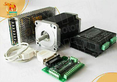 EU Free Ship! Wantai 1Axis Stepper Motor Nema23 4.2A 425oz-in Dual Shaft CNC kit