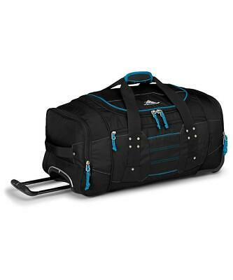 High Sierra Ultimate Access Large 76cm Black/Blue Wheeled Duffle Travel Luggage