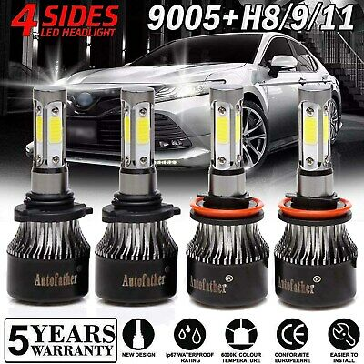 For Toyota Camry 4Runner 2007-2015 HI LOW Beam 9005 H8/H9/H11 LED Conversion Kit