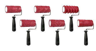 AMACO Clay Texture Rollers, 4 Inches, Assorted Designs, Set of 6