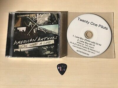 TØP Twenty One Pilots LANE BOY Promo Single CD Guitar Pick TØP Logos + 1 more CD